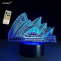 3Dデスクランプ視覚効果ライトシドニーオペラハウスリモコンナイトライトUSB
