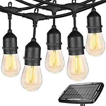 Wenfeng 48 Ft Edison Outdoor Solar String Lights