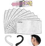 50PCS PM2.5 Foglio Attivo di Sostituzione del Carbonio, Utilizzato per Proteggere l'Inserimento Respiratorio, Adatto ad attività Esterne Adulte