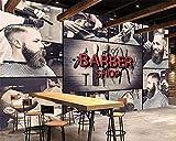 XQJBH Papel Pintado Autoadhesivo - 400X280 Cm (Wxh) Papel Tapiz 3D Tridimensional Moderno Peluquería Moda Barbería Fondo Pintura Mural Papel Tapiz 3D Pegatinas De Pared Extraíbles Vinilos Decorativos