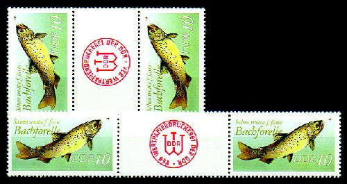 Goldhahn DDR Zusammendrucke postfrisch Nr. 3096 WZ20-SZ23 2 Kombinationen - Briefmarken für Sammler