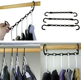 Xiton 10 piezas de 15 pulgadas Negro Mágico Perchas de armario ahorro de espacio armario de ropa Hanger oragnizer