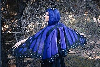 Alas mariposa monarca azul