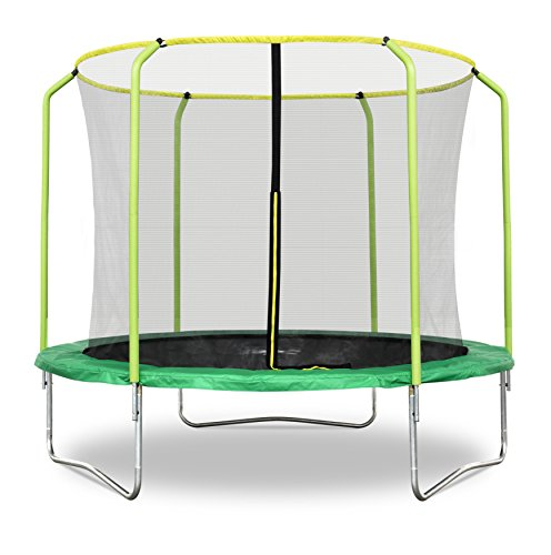 Rebo - Tappeto Elastico con Recinzione, 3 Metri, Modello Fun Jump/Air Launch/Base Jump