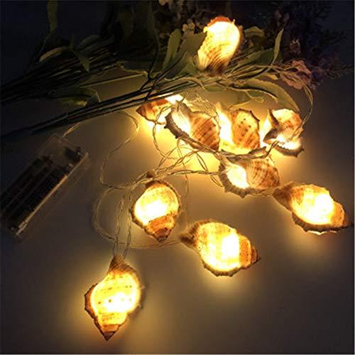 Led Muschelschale Lichterketten Ocean Conch Dekoration Licht Party Beleuchtung Für Indoor Outdoor Party Hochzeit Weihnachtsbaum Garten (Warmweiß)