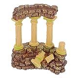 Balacoo Resina Sólida Vintage Columna Romana Decoraciones de Acuario Betta Pecera Roca Cueva Decoración Hideout Antiguas Ruinas Acuario Ornamento para Peces Camarones