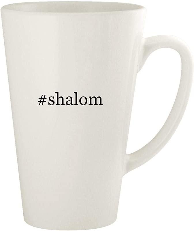 Shalom 17oz Hashtag Ceramic Latte Coffee Mug Cup White