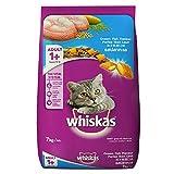 Whiskas Adult (+1 year) Dry Cat Food, Ocean Fish Flavour, 7kg Pack