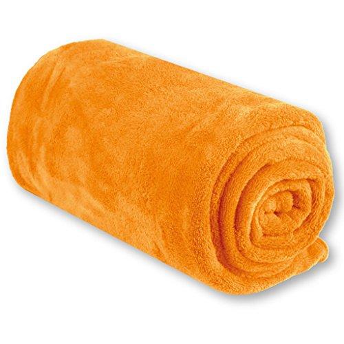 Bestgoodies Babydecke in 70x100 cm - Orange, Kleinkinddecke Schmuse- und Krabbeldecke nach ÖKO-TEX Standard 100 Klasse 1 gefertigt
