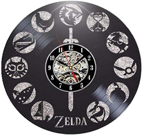 szhao Vintage Vinyl Wanduhr Vinyl Wanduhr Zelda Wanduhr Wanduhr Geschenkuhr