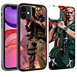 PICAVINCI SwitchME iPhone 11 Case, Arnold Commando Rocket Launcher Funny Black Clear Matte Hybrid Protective Cover