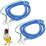 LLMZ Catena per Pappagalli 2 PCS Imbracatura per Uccelli Pappagallo 6 m Imbracatura Anti-morso Anti morso per addestramento e Volo