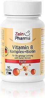Zein Pharma Vitamina complejo B Forte. 90 Cápsulas. 1er Pack (1 x 23 g)