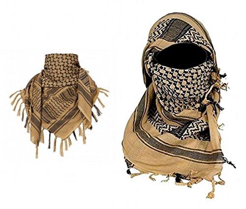 ARUNDEL SERVICES EU beige Arabische Shemagh KeffIyeh katoenen sjaal Arabische sjaal woestijn hoofddoek camping paintball hoofddoek gezicht mesh woestijn wikkelen bandanas
