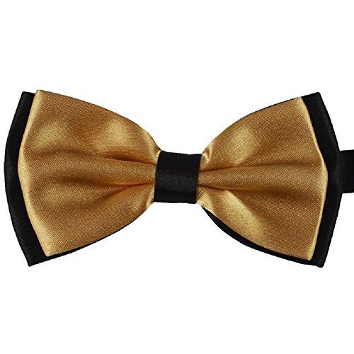 S.R HOME Noeud Papillon double couche brun clair pour mariage, travail ou tout autre événement