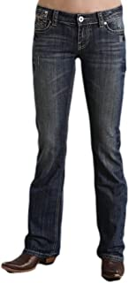 Women's 818 Fit Rhinestone Bootcut Jeans - 11-054-0818-0702 Bu