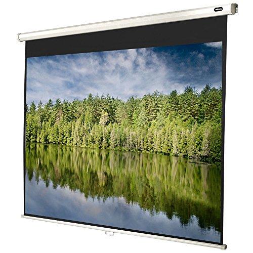 celexon manuell ausziehbare Heimkino- und Business-Beamer-Leinwand 4K und Full-HD Rollo-Leinwand Economy - 160x120cm - 79