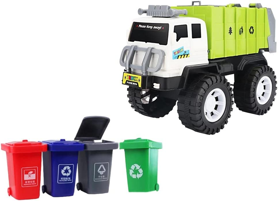 Max 44% OFF Bargain sale balacoo 1 Set Garbage Truck Toys Dump 4 Trash with G