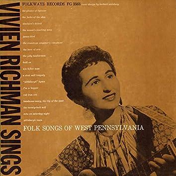 Vivien Richman Sings Folk Songs of West Pennsylvania