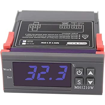 AC 10A/ 90V-250V  デジタル温度調節器 コントロール デジタルサーモスタット -50℃~110℃ MH1210W
