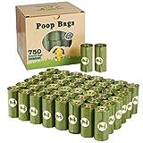 Yingdelai - Sacchetti per escrementi di cane, biodegradabili, 750 pezzi, grandi e spessi, ecologici, profumati