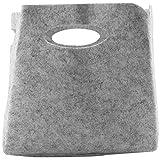 Gesh Cesta de tela de fieltro simple con bonito diseño, práctica caja plegable, ropa, juguetes, escombros, organizador (pequeño)