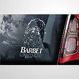 Pegatina de coche Barbet a bordo, vinilo auto calcomanía, decoración para ventana, parachoques, portátil, paredes, computadora, vaso, taza, teléfono, camión, accesorios para coche