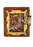 Hecho a mano piel de oveja auténtica recargables diario diario Notebook Bloc de notas), bocetos libro Carcasa Vintage papel Plain mujeres hombres niños producto de oficina regalo, diseño de Batman