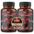 Herbal Test Support for Male Supplement - Support Efficiency, Speed, Strength, Flexibility - T-Level Boost Equivalent 9200mg - 2 Packs 60caps - 120 Veggie Capsules 2-Month Supply
