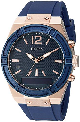 Guess Damen Analog-Digital Quarz Uhr mit Silikon Armband C0002M1