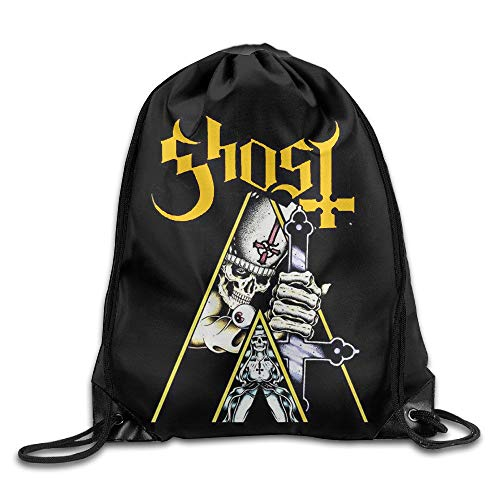 tgkze Popestar-Ghost B.C. Multi Function Laminated Drawstring Bag One Size