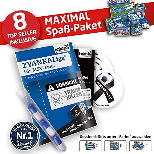 Duisburg Handtuch ist jetzt das MAXIMAL SPAß Paket für MSV Fans by Ligakakao.de duschtuch Emblem Logo Soft one Size Baumwolle weich saugstark blau-weiß
