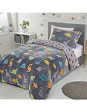 Sleepdown - Juego de funda de edredón y funda de almohada con diseño de dinosaurios que brillan en la oscuridad