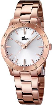 Lotus 18141/1 - Reloj para Mujer (Cuarzo, analógico, Correa de Acero Inoxidable, Chapado en Oro Rosado)