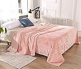 HT&PJ Fleece Throw Blanket Super Soft Lightweight Flannel Microfiber Velvet Cozy Warm Throw Blanket for Living Room (Pink, (Throw50 X 60'))