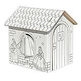 Celebration Spielhaus aus Karton Puppenhaus aus Pappe Bastelkarton zum Bemalen Märchenhaus mit...