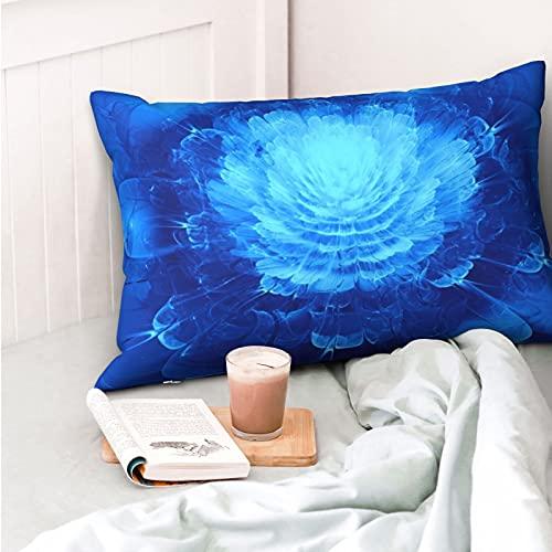 VVSADEB - Federa per cuscino con motivo floreale, 50 x 30 cm, morbida e accogliente, motivo a rughe, dimensioni standard, 1 confezione