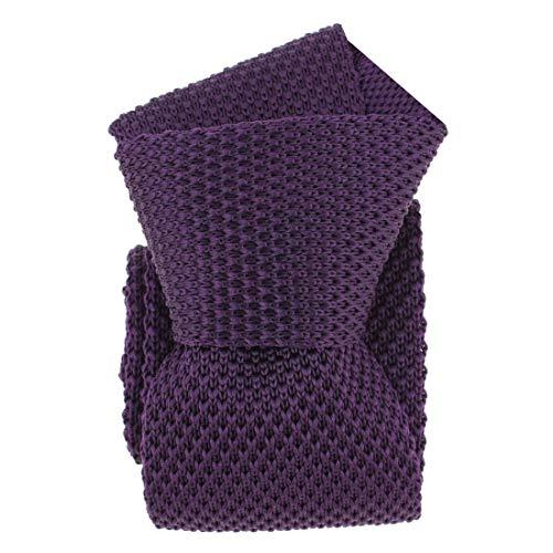 Clj Charles Le Jeune. Cravate tricot. Dandy Farmer, Microfibre. Violet, Uni.