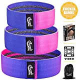 Recredo Booty Bands, Non Slip Resistance Bands for Legs and Butt, Workout Bands Exercise Bands Glute Bands for Women - Gradient Color Design, 3 Pack - Training Ebook and Video Included