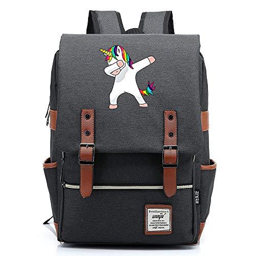 """Robot Rainbow Unicorn Daypack, Mochila de la Escuela de la Universidad Adolescente, Mochila de Senderismo de Viaje Casual, se Adapta a la Tableta de 15"""", 16 Pulgadas. Color-01."""