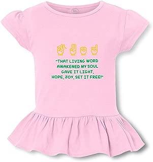 That Living Word It Light Hope Joy Set It Free! Cotton Girly T-Shirt