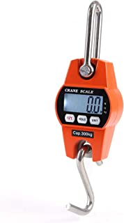 Hanging Scale, KKmoon Mini LCD Digital 300kg Portable Industrial Electronic Heavy Duty Weight Hook Crane Hanging Scale