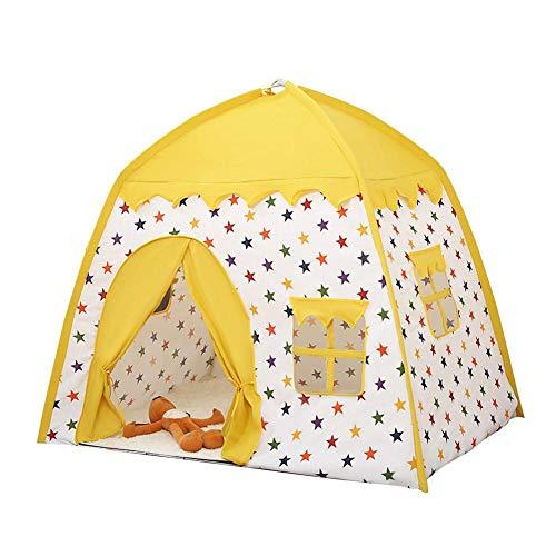 Kinderzelt Spielhaus, Kinder Spielen Zelt, Prinzessin Zelt, Mädchen Jungen Spielhaus, Spielzeughaus, Kinderschloss Spielzelt für Kinder Indoor Outdoor Spiele