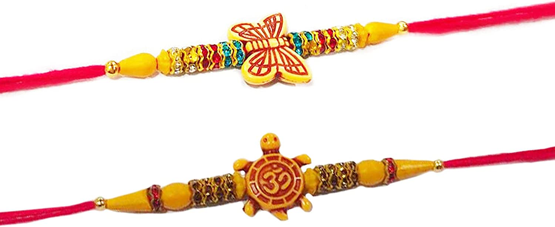 SET OF 2 Rakhi For Brother Combination set of two Ashes, Butterfly &Turtle / Tortoise, Tortoise & Butterfly Designer Rakhi Set For Rakshabandhan.