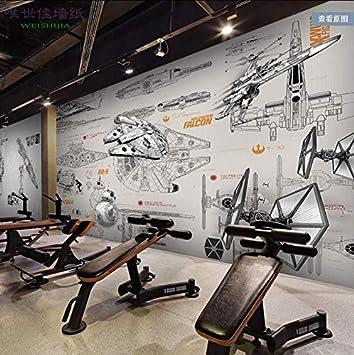 Simple Modern Wallpaper Star Wars Wallpaper Large Mural 350245cm Amazon Com