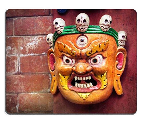 Mousepads Bhairab (Maske auf der Wand im Shop near swayambhunath Stupa Kathmandu Valley Nepal Bild-ID 28848992von Liili Individuelle Mousepads fleckenresistenz Collector Kit Küche Tisch Top Schreibtisch Drink Individuelle fleckenresistenz Collector Kit Küche Tisch Top Schreibtisch