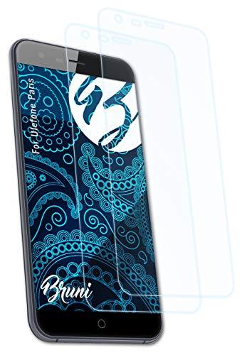 Bruni Schutzfolie kompatibel mit Ulefone Paris Folie, glasklare Bildschirmschutzfolie (2X)