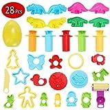 EPCHOO Knete Werkzeuge, 28 Stück Knetwerkzeug Teig Plastilin Werkzeuge Ausstechformen Spielzeug...