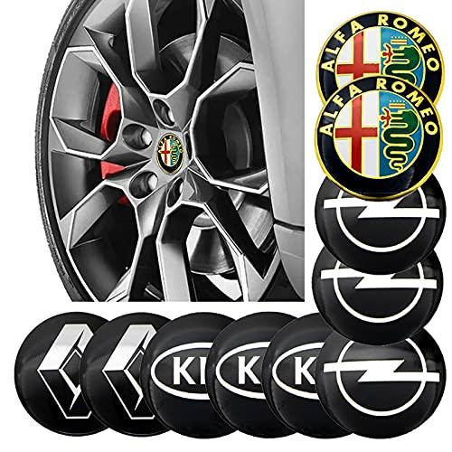 Tapas De Cubo De Centro De Rueda 4 unids 56mm rueda de rueda de neumáticos centrales pegatina compatible con volkswagen bmw 3 4 5 6 MERCEDES BENZ TOYOTA FORD AUDI VW OPEL SKODA AUTO BRODES Cubierta ce
