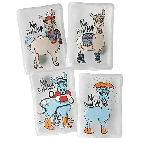 Unbekannt Taschenwärmer Handwärmer Lama 4er Set No ProbLama